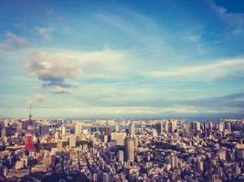 paisagem urbana da cidade de Tóquio no Japão foto