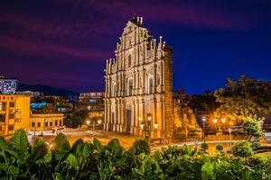st. igreja paulista em macau foto