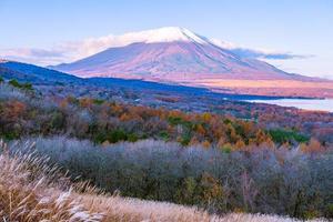montanha Fuji no lago yamanakako ou yamanaka no Japão