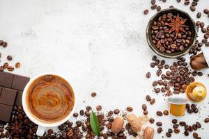 moldura de chocolate e especiarias