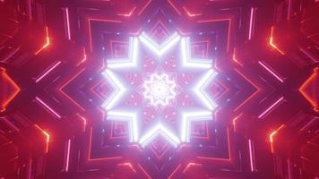 ilustração colorida do projeto do caleidoscópio 3D para o fundo ou a textura foto