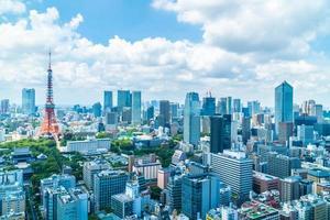 edifícios na cidade de Tóquio, Japão foto