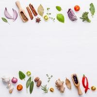 fronteiras de ingredientes frescos foto