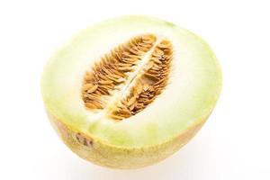 melão ou melão em fundo branco foto