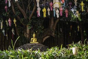 templo público budista tailandês em chiang mai foto