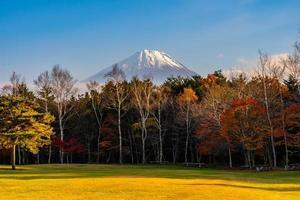 paisagem em mt. Fuji no Japão no outono