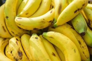 banana, vista de perto