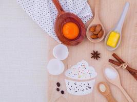 ingredientes de cupcake na horizontal foto