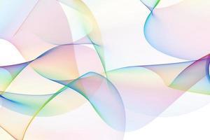 linhas coloridas abstratas ilustradas digitalmente em fundo branco foto