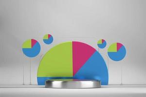 maquete de pódio de palco colorido abstrato
