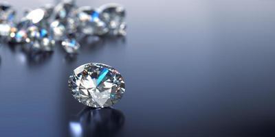 reflexão cáustica com diamantes desfocados foto