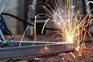 close up de soldagem de metais