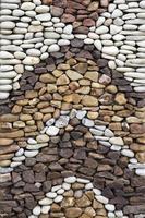 estrada de pedra de seixos