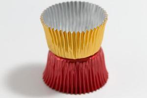 copos coloridos de alumínio foto