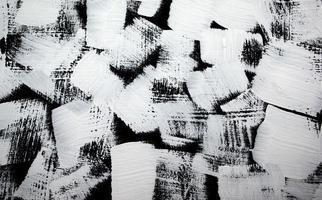 fundo de pintura abstrata acrílica preto e branco foto