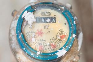 medidor para tubos de água e metal no formato da Tailândia foto