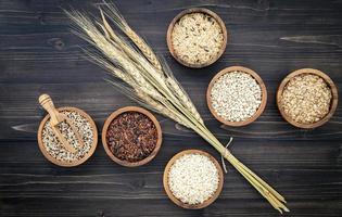 vista superior dos grãos