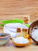 óleos essenciais e esfoliantes