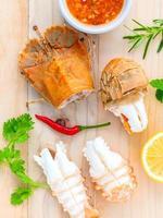 conceito de prato de lagosta foto
