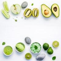 alimentos verdes e cuidados com a pele