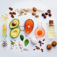 seleção de alimentos com gordura insaturada
