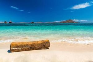 vista de bela praia tropical