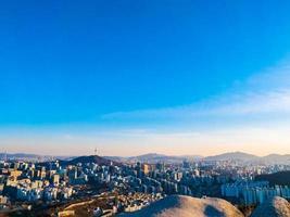 vista da cidade de seul, coreia do sul foto