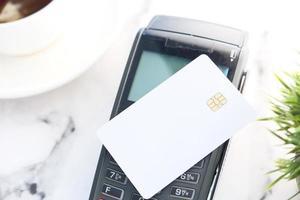 cartão de crédito e pagamento sem contato foto