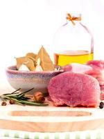 ingredientes da refeição do lombo foto
