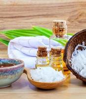 sal marinho e óleos essenciais