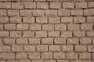 detalhe da velha parede de tijolos foto