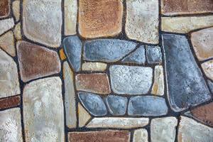 mosaico decorativo de pedra irregular foto