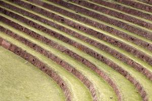 terraços agrícolas em pisac, peru foto