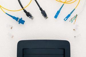 roteador e cabos foto