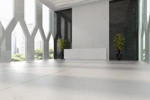 interior de uma recepção de hotel e spa em ilustração 3D foto