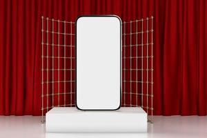 smartphone móvel, maquete de telefone celular para aplicativo móvel, renderização 3D