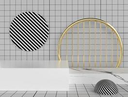 renderização minimalista em 3D de formas geométricas abstratas
