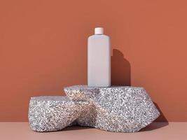cosmético, beleza para cuidados com a pele, maquete de design de embalagem
