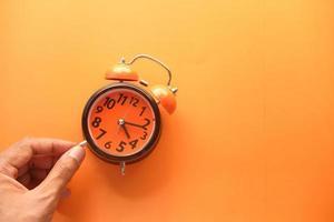 despertador laranja foto
