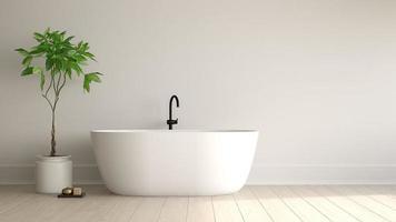 interior de um banheiro moderno em renderização 3d
