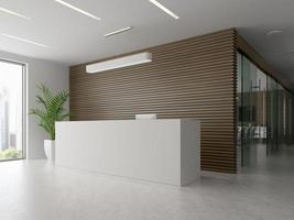 interior de uma recepção e sala de reuniões em ilustração 3D