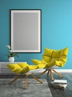 design moderno de interior de uma sala em ilustração 3D