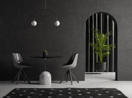 sala interior conceitual em ilustração 3D foto