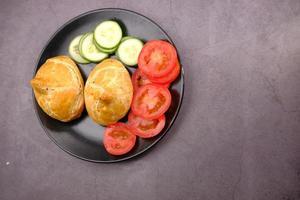 vegetais com comida de rua indiana