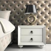 parte de um quarto luxuoso com design moderno e renderização 3D foto