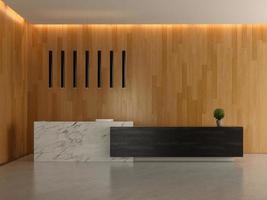 interior da recepção do lobby de um hotel em ilustração 3D foto