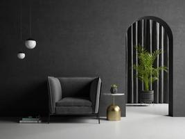 ilustração 3D conceitual da sala interior foto
