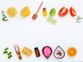 borda de ingrediente para cuidados com a pele