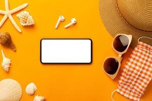 maquete de smartphone de verão foto
