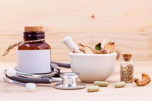 medicamento homeopático com almofariz